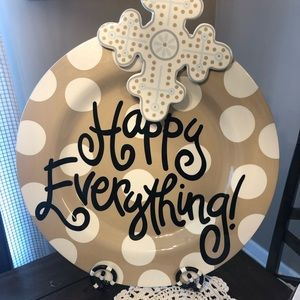 Coton Colors Happy Everything Neutral platter